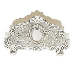 Porta Guardanapo em Zamac Prata 13,4x9,5cm - Prestige