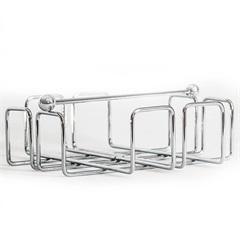 Porta Guardanapo Quadrado 9x19cm Cromado - Importado