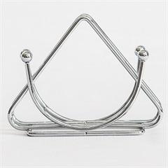 Porta Guardanapo Triangular 10x13cm Cromado - Importado