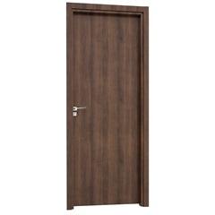Porta Interna Direita Aluminium 215x88x14cm Mogno - Sasazaki