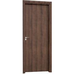 Porta Interna Direita para Banheiro Aluminium 215x78cm Mogno - Sasazaki