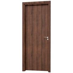 Porta Interna Esquerda Aluminium 215x88cm Mogno - Sasazaki