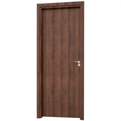 Porta Interna Esquerda para Banheiro Aluminium 215x78cm Mogno - Sasazaki