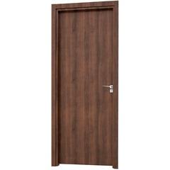 Porta Interna Esquerda para Banheiro Aluminium 215x78x14cm Mogno - Sasazaki