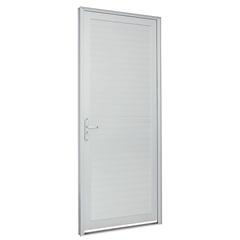 Porta Lambri Horizontal Direita Alumifort 216x88cm Branca - Sasazaki