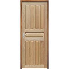 Porta Maciça Montada Direita Mista Americana 210x70cm - Sidney Esquadrias