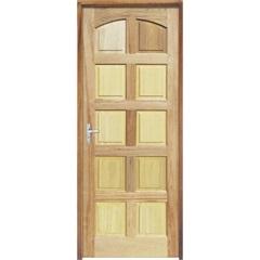 Porta Maciça Montada Direita Mista Rubi 210x82cm - Sidney Esquadrias