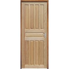 Porta Maciça Montada Esquerda Mista Americana 210x70cm - Sidney Esquadrias