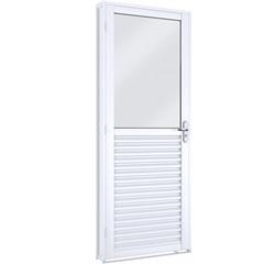 Porta Mista com Vidro Esquerda Facilità 215x86cm Branco - Lucasa