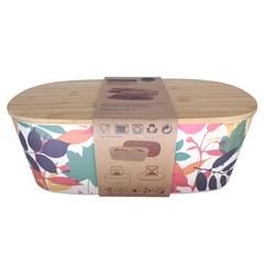 Porta Pão em Fibra de Bambu com Tampa Colorido - Casanova