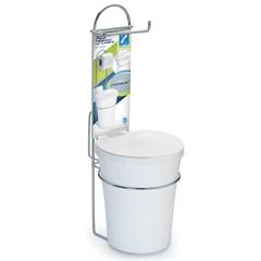 Porta Papel Higiênico com Lixeira Premium Cromado - Arthi