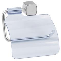 Porta Papel Higiênico Eco com Tampa Transparente E Cromado - Expambox