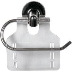 Porta Papel Higiênico em Alumínio Stylo Cromado - Sicmol
