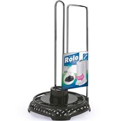 Porta Papel Toalha em Aço Rattan Cromado E Preto - Arthi