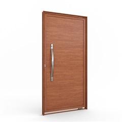 Porta Pivotante Amadeirado Brilhante sem Friso E Puxador Direta 215x105x8cm - Lucasa