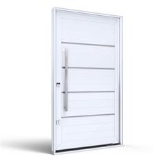Porta Pivotante Direita com Puxador Eccellente 225x130cm Branca - Lucasa