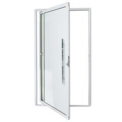 Porta Pivotante Direita em Alumínio Visione com Puxador 210x100cm Branca