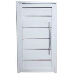 Porta Pivotante Direita em Pvc Premium 216x120cm Branca - Brimak