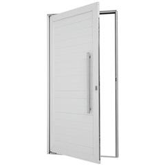 Porta Pivotante Direita Puxador Fechadura 216x110cm Branca - Sasazaki