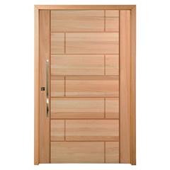Porta Pivotante em Madeira Maciça Talismã Eucalipto 210x100cm Natural - Cruzeiro