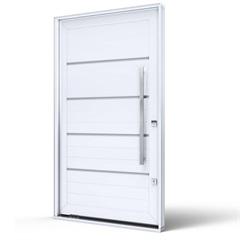 Porta Pivotante Esquerda com Friso E Puxador Eccellente 225x130cm Branca - Lucasa