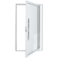 Porta Pivotante Esquerda em Alumínio Visione com Puxador 210x120cm Branca - Brimak