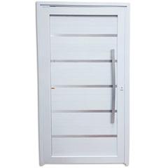 Porta Pivotante Esquerda em Pvc Premium 216x100cm Branca - Brimak