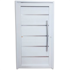 Porta Pivotante Esquerda em Pvc Premium 216x100cm Branca