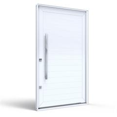 Porta Pivotante Lado Direito sem Friso Branca 225x130x12cm - Lucasa