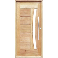 Porta Pivotante Maciça Montada Esquerda Cedro Arana 210x100cm