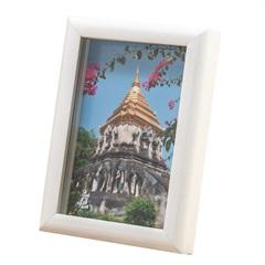 Porta Retrato Carvalho 10x15cm Branco - Casa Etna