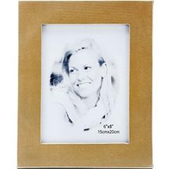 Porta-Retrato em Couro 15x20cm Dourado - Toyland