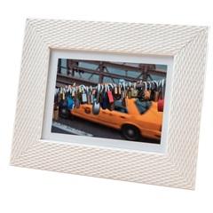 Porta Retrato em Madeira Lux 13x18cm Branco - Casa Etna