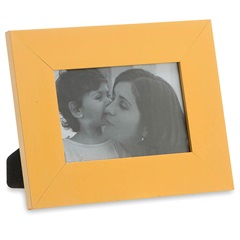 Porta Retrato em Madeira Monte Carlo 10x15cm Amarelo - Casa Etna