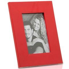 Porta Retrato em Madeira Monte Carlo 15x10cm Vermelho - Casa Etna