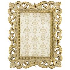Porta Retrato em Resina Classic 21x17cm Dourado - Casa Etna