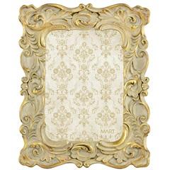 Porta Retrato em Resina Classic 24x19cm Dourado - Casa Etna