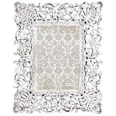 Porta Retrato em Resina Classic 24x20cm Branco - Casa Etna