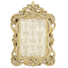 Porta Retrato em Resina Imperial 23x16cm Dourado - Casa Etna