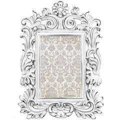 Porta Retrato em Resina Imperial 26x19cm Branco - Casa Etna