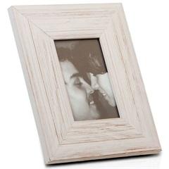 Porta Retrato Largo em Madeira Juquey 15x10cm Branco - Casa Etna