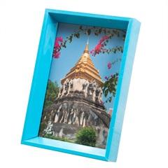 Porta Retrato Nita 10x15cm Azul - Casa Etna