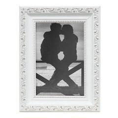 Porta Retrato Provençal Rústico 10x20cm Branco - Kapos