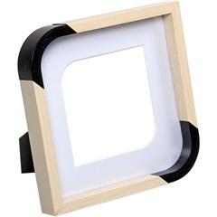 Porta-Retrato Scoop 15x15cm Branco - Importado