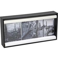 Porta-Retrato Triplo Anita 9x13cm Preto - Importado