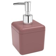Porta Sabonete Líquido Cube 330ml Rosa Malva - Coza