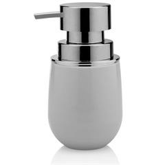 Porta Sabonete Líquido New Belly Cromo 8,5x15,7cm Branco - Martiplast