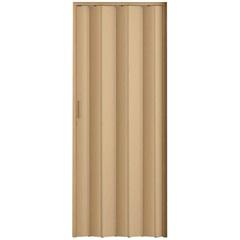 Porta Sanfonada com Puxador E Trinco 210x72cm Bege - Metropac