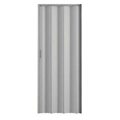 Porta Sanfonada com Puxador E Trinco 210x72cm Cinza - Metropac
