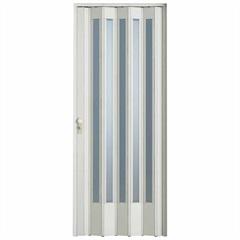 Porta Sanfonada Plast Porta com Fechadura 210x84cm Branca E Translúcida - BCF